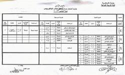 جدول امتحانات مواد الدور الثانى لطلاب البكالوريوس دور سبتمبر2017